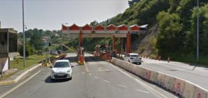 Cabina de peaxe entre Chapela e Vigo