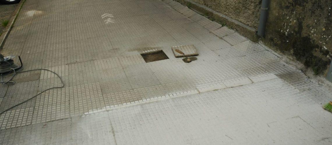 Avenida Mendiño. Reparación parcial beirarrúas (2)