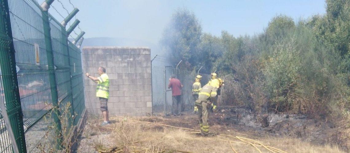 incendio forestal Redondela
